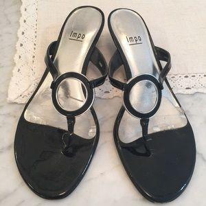 Impo black sandals, size 8